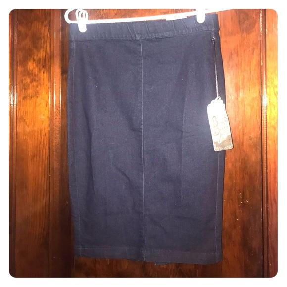 Boom Boom Jeans Dresses & Skirts - NWT Jean Pencil Skirt